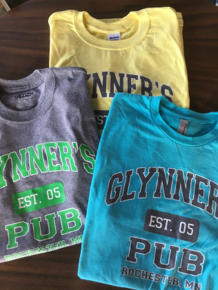 New TShirts!  Pick up at Glynner's or click Merchandise to order
